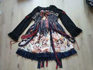 Lolita Kleid Panda schwarz Damen kawaii cute Cosplay Gr. XL