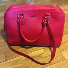 Borsa Originale FURLA in vera pelle saffiano con tracolla rossa rosso grande bag