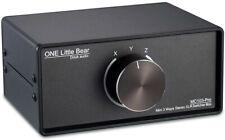 MC103 Pro 3 Way Stereo XLR Switcher Box Mini Audio Amplifier Selector Douk brand