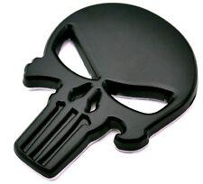 Punisher Scull Black Car Sticker aus Metal selbstklebend Death Head Bike Auto