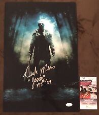 Derek Mears Hand SIGNED 12x18 Friday The 13th Jason Voorhees  Photo JSA COA Rare
