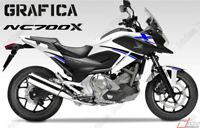 ADESIVI DECAL STICKERS HONDA NC700X NC 700 X RACING CARENA GRAFICA NERO BLU