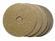 "3"" Electroplated Diamond Polishing Pad Set (5 pcs), Hook and Loop Backed"