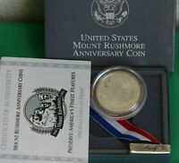 1991 S Mt Rushmore Proof Half Dollar Clad 50c US Coin with US Mint Box and COA