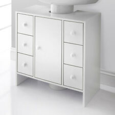 Waschbeckenunterschrank Waschtischunterschrank Badezimmermöbel Schrank 60cm weiß