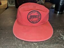 Lrg Fitted Vintage Polo Ralph Lauren Catch And Release Fishing Hat USA Sporrsman