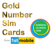 07539 050530 - NEW Gold VIP number sim card. Easy transfer to any network