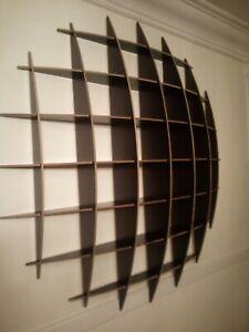 CD storage rack wall mounted unit retro style shelving holds approximately 200