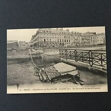CPA - NANTES - Ecroulement du Pont Maudit 1913 Accident - Carte Postale