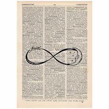 Faith Moon Infinity Dictionary Word Art Print OOAK, Quirky, Alternative