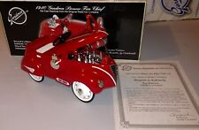 1940 Gendron Fire Chief Die Cast Replica Pedal Car Bank w/Dog, 1:6 Scale ~ Mint