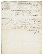 Général Isidore LYNCH autographe 1801