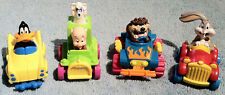 1992 McDonald's Happy Meal Toys LOONEY TUNES QUACK-UP CARS  Complete Set of 4
