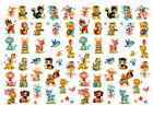 Vintage Image Nursery Tiny Baby Animals Dollhouse Transfers Shabby Decals AN536