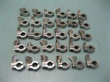 "Lot (30) 1/2"" Stainless Steel Tri-Clover Type Sanitary Tri-Clamp F8 (2702)"