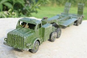 DINKY 660 THORNYCROFT MIGHTY ANTAR TANK TRANSPORTER good condition 1950s
