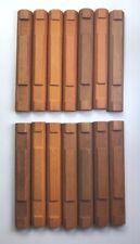 "Wood Lincoln Logs Bulk Parts Lot: 14 Flat Log Pieces 4-1/2"" Light Brown 2-Notch"