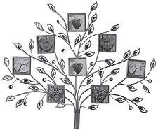 Multi Foto 8 telaio in metallo argento gioiello Family Tree Wall Art montato da appendere NUOVO