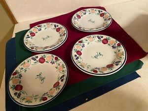 Princess House 226 Orchard Medley Luncheon Plate Set set of 4