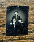 "Gem size 1.5 x 1"" Civil War tintype 3 brothers Union uniforms Pennsylvania"