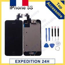 ECRAN IPHONE 5S NOIR COMPLET VITRE TACTILE + LCD RETINA SUR CHASSIS + OUTILS