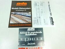 BH849-0, 5 #2x Ade Brochures + H0 News 1981