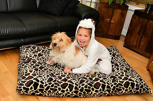 DOG PET Pillow BED with FREE Spare COVER Waterproof Washable Zipped SOFT CUSHION