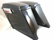 "Fully Assembled Stretched Extended Hard Saddlebags 4"" HD Harley Davidson Touring"