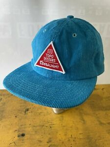 Coors Light TOPO Designs Adjustible Hat Cap Blue Patch