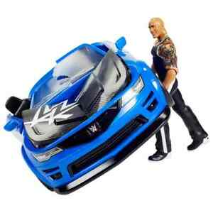 WWE Wrekkin Slam Mobile car toy Vehicle with The Rock wrestling Action Figure