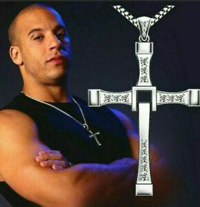 Fast and Furious Kette Vin Diesel Dominic Toretto Kreuz Halskette Neu