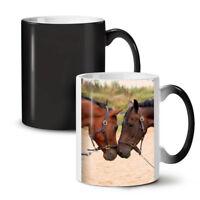 Horse Couple Photo NEW Colour Changing Tea Coffee Mug 11 oz | Wellcoda