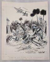 1960s OG Newton Pratt Signed Military Political Cartoon, Vietnamization Program