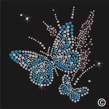 Butterfly Transfer Rhinestone Diamante Hotfix  Iron On  Motif applique Crystal