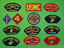 MARINE CORPS 13 COLOR  PATCHES -USMC DEALER COLLECTOR LOT 1 - Hat Jacket iron on