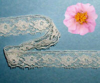 """Ivory Vintage Lace Trim 14 - 28 Yds x 3/4"""" Doll I08BV Buy any 3 Trims Get 1 Free"""