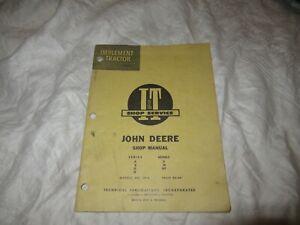 John Deere A B G H D M MT tractor service shop manual