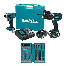 Makita Tools 18V LXT Lithium-Ion Cordless 2 Pc. Combo Kit Drill Driver + Bit Set