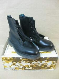 Solovair Black Leather Boots Size 6 ~ 8 Eyelet ~ Derby Boot ~ Soft Suspension