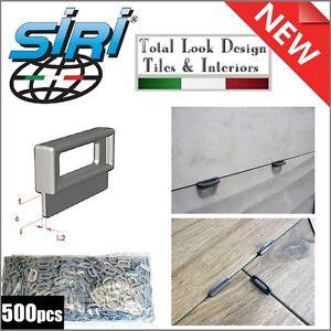 Siri 500pcs 1.2mm Re-Usable Tile Spacer Floor/Walls Ceramic Porcelain Tools
