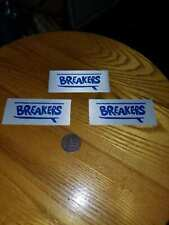 Vintage Surfing Breakers Surf Shop Original 1.5x2.5in. Clothing Tag - Lot of 3
