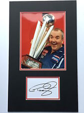 Phil Taylor Hand Signed Photo Mount Display The Power.