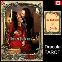 dracula tarot cards card deck rare vintage major arcana oracle book guide + gift