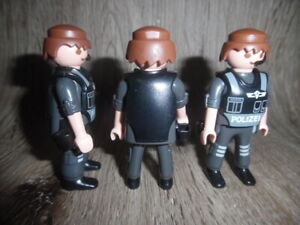 Playmobil 3x Grundfiguren Polizei   Polizisten   SEK   Citylife   Figuren