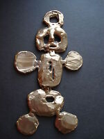 MAF Bronze Fabrication of  Cartoon Man, Abstract Wall Sculpture Unique Original
