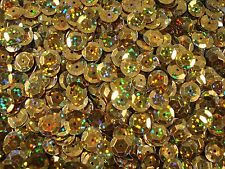 Sequins Cup 10mm Laser Gold 20g Dance Costumes Beading Bead Postage