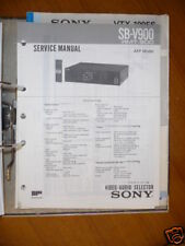 Service Manual Sony SB-V900  Audio/Video Signal Select