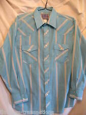 AMERICAN HERO Mens Western Rodeo Cowboy Pearl Snap Square Dance Shirt Size XL
