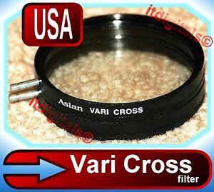 62mm Vari-Cross 4F Lens Filter 4PT Dual Star Light Effects variocross Screen