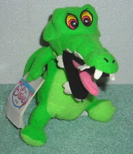 "DISNEY PETER PAN TIC TOC CROCK CROCODILE 8"" PLUSH BEAN BAG TOY"